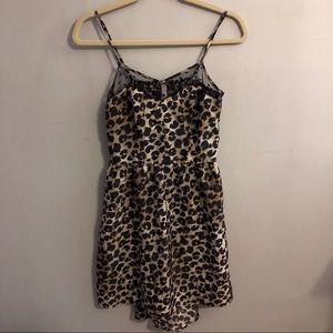 Cheetah Print High Low Dress